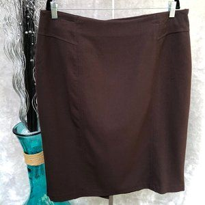 Kim Rogers Brown Lined Skirt